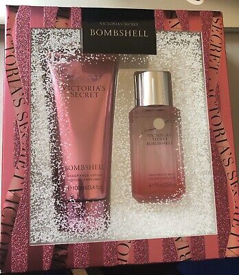 Victoria's Secret BOMBSHELL Travel Size Fragrance Body Mist & Lotion Gift Set!