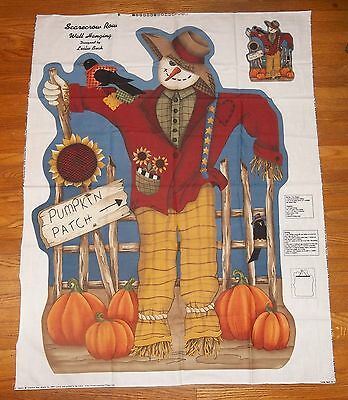 Scarecrow Row Wall Hanging Door Decor Fall Autumn Leslie Beck  Fabric Panel    for sale  Shipping to India