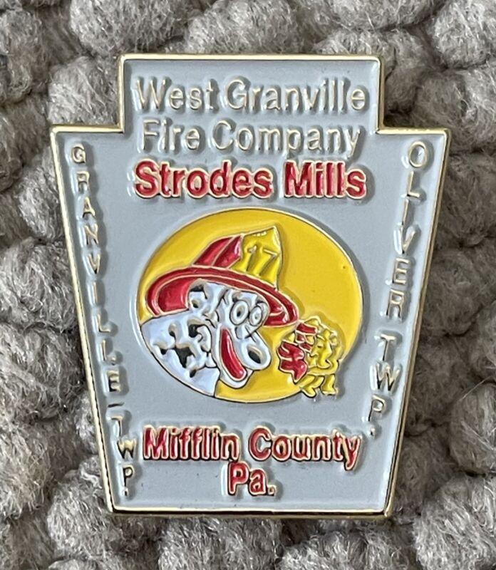 """West Granville Fire Company PA. Pin 1"""" Ultra Rare"""