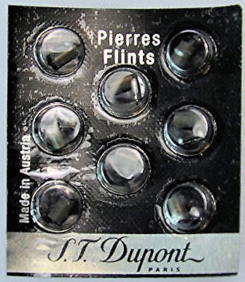 S.T. Dupont Black Lighter Flints Pack of 8 for Ligne 1, Ligne 2 & Gatsby, # 600