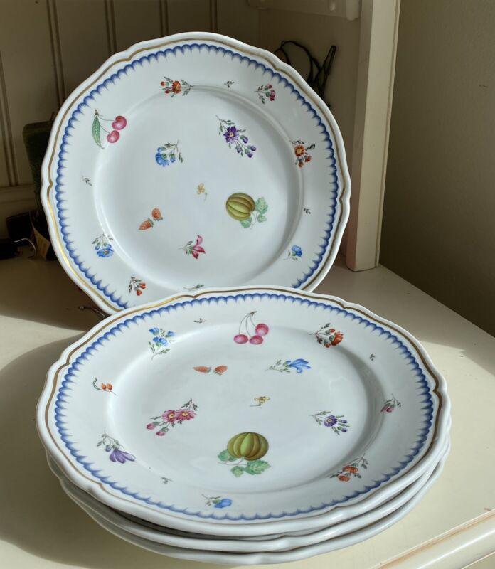 "Richard Ginori Italian Fruit, Antico Doccia, Blue: Dinner Plate (s), 10 1/4"""