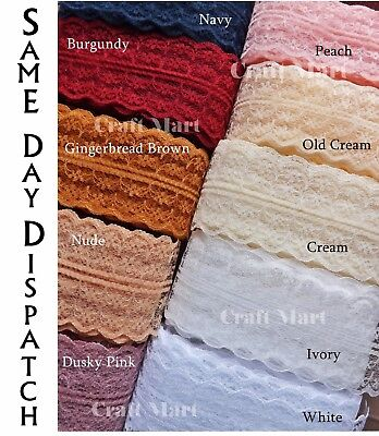 *37 colours* lace ribbon sewing wrapping craft cake trim scrapbooking diy Ivory