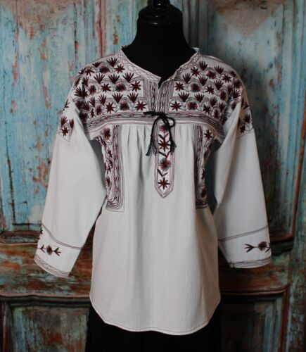 Authentic Tlahuitoltepec Blouse Embroidered Agave Tequila Lover Oaxaca Mexico