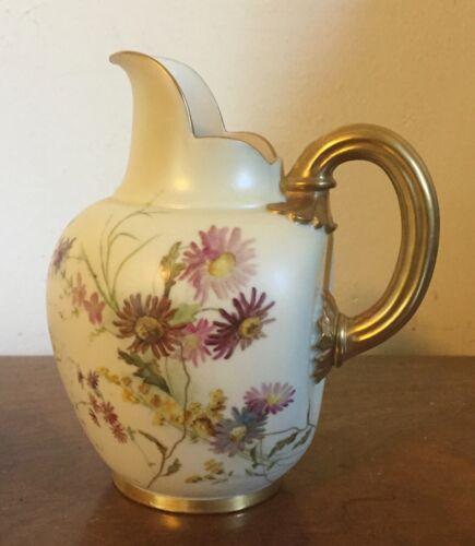 Antique 19th c. Aesthetic Royal Worcester Porcelain Jug Ewer Pitcher Creamer
