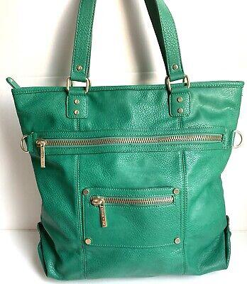 OLIVIA + JOY Green Vegan Leather PVC Tote Bag Large Shoulder Bag Green Pvc Tote Bag