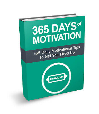 365 Days of Motivation PDF eBook with master resell rights 24 Hour Delivery