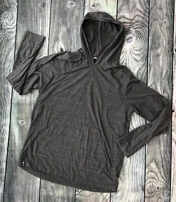 The North Face Mens Large Shirt Hoodie Hooded Long Sleeve Gray Pullover
