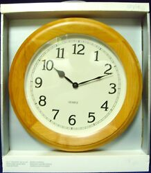 Vintage•2000•Brand New•Target Brand•16 Dia.•Natural•Solid Alder Wood•Wall Clock