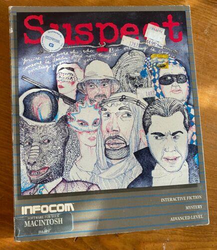 Suspect Infocom Apple Mac Macintosh Computer Game