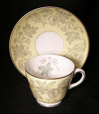 WEDGWOOD china WILDFLOWER YELLOW W3998 pattern Cup & Saucer