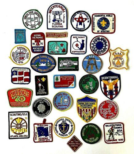 Vtg 30+ Lot of Boy Scout Patches 1970s Camporee Klondike Scout-O-Rama Council