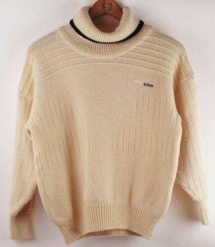 "Vintage Wool ""BMW M Style"" Sweater, Ivory, Women"