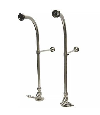 Kingston Brass Rigid Freestand Supplies with Stops, Brushed Nickel (B2)