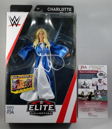 CHARLOTTE FLAIR SIGNED WWE ELITE 57 FIGURE MATTEL SMACKDOWN AUTOGRAPH JSA COA