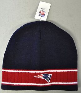 New England Patriots Kint Beanie Winter Hat Toque Skull Cap - Red Stripe