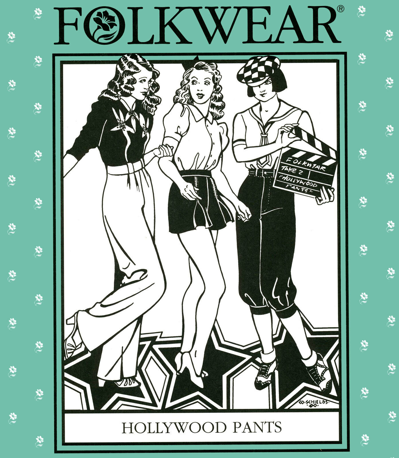 Folkwear Hollywood Pants 1930s-40s Trousers, Knickers, Shorts Sewing Pattern 250