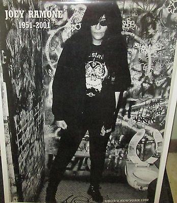 JOEY RAMONE RAMONES VINTAGE RARE NEW SEALED POSTER 2001 ROCK  METAL