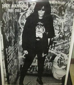 JOEY-RAMONE-RAMONES-VINTAGE-RARE-NEW-SEALED-POSTER-2001-ROCK-METAL