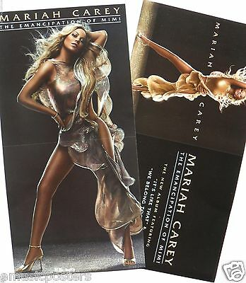 "MARIAH CAREY ""EMANCIPATION OF MIMI"" 2-SIDED U.S. PROMO CARDBOARD POSTER / BANNER"