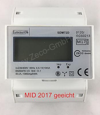neu Stromzähler mit MID17 Drehstromzähler 230/400V MID geeicht S0-Schnittstelle