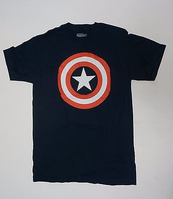 Marvel Avengers shield Captain America Symbol shirt NEW Small -2XL Blue   - Avengers Symbols