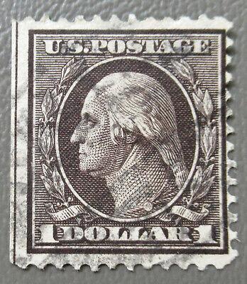 Item 041823 US $1 Washington Stamp #342 used CV $90