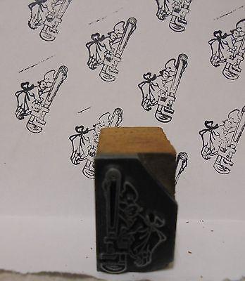 Vintage Cheif Tool Bang Metal Wood Letterpress Printing Block Type
