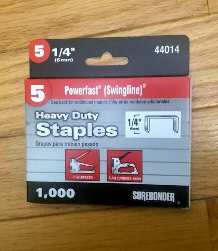 """1/4"""" Powerfast / Swingline 101 Heavy Duty Staples, Stanley, Do it, Ace, Master M"""