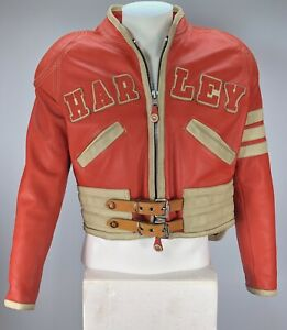 Vintage Harley Davidson leather jacket Women's sz Large genuine