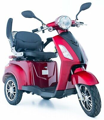 New Electric Mobility Scooter 3 Wheeled RED ZT500 LED Display By Green Power