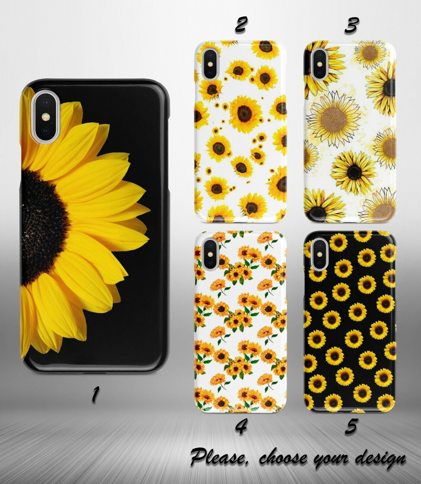Sunflower case for Galaxy Note 10 10+ 9 8 5 plus google pixe