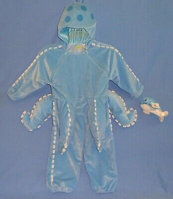 Kids Whale Costume (PLUSH Octopus Costume-child/toddler 2-3T-Hooded;Disney plush)