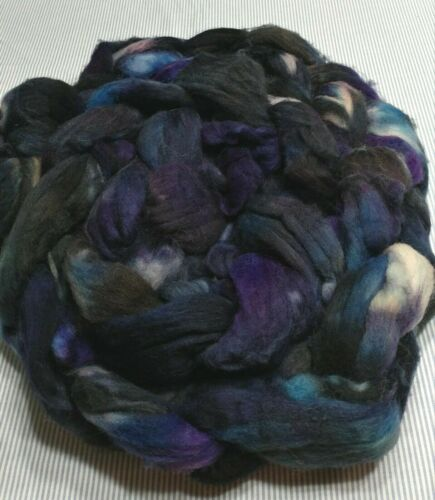 Superwash Wool Combed Top Roving Spinning Handpainted USA NWT Great Unknown 11.3
