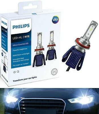 Philips Ultinon LED Kit 6000K White H11 Two Bulbs Head Light Replace Upgrade - Two Head Kit