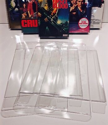 10 VHS Box Protectors  Clear Display Cases For Standard VHS Tapes   Acid-Free