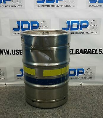 15.5 Gallon Stainless Steel Keg Used Sanke Half Barrel With Cosmetic Dent