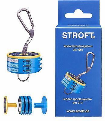 STROFT Vorfachspulensystem 3er Set Vorfachdispenser Vorfach Leader Spool System
