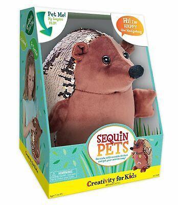 Creativity for Kids Sequin Pets Stuffed Animal - Happy the Hedgehog Plush