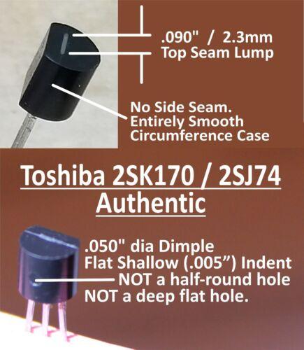 """Qty 10 TOSHIBA 2SJ74-BL J-FETs NEW """"B"""" / """"BL"""" grade (10.0 - 11.5 mA range)"""