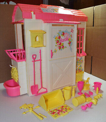 Vintage Barbie Feeding Fun Stable Playset by Mattel with many accessories