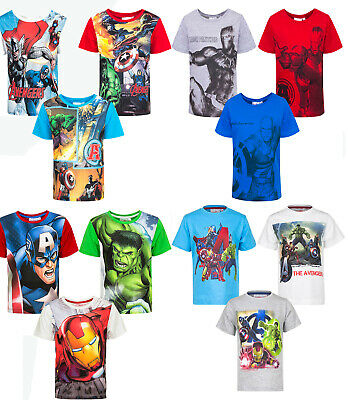 Avengers T-Shirt Kurzarm Marvel Hulk Iron Man Captain America Neu Ovp