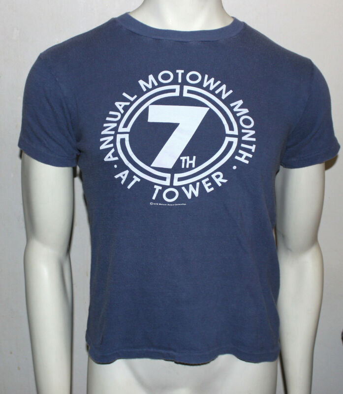 vintage 1978 7th Annual Motown Month at TOWER RECORDS t-shirt M