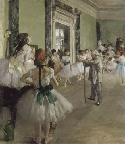 The Ballet Class by Edgar Degas, Giclee Canvas Print, in various sizes