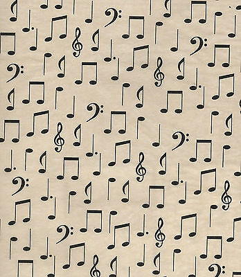 MUSIC NOTE Tissue Paper # 537 ~ Symphony ~ Piano ~ 10 Large Sheets