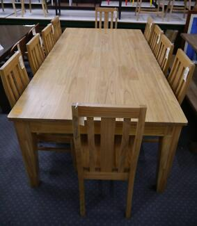 New Large Marriot Mountain Ash Timber Dining Table 2.4 x 1.2m