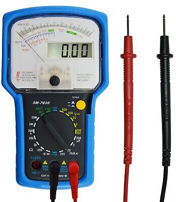 Combo Analog Digital Multimeter With Test Leads