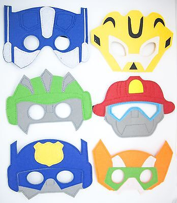 Transformers Rescue Bots Characters For Children Party Favor Dress Up Lot option