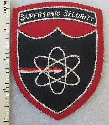 SUPERSONIC SECURITY US AIR FORCE PATCH Custom Sewn for USAF VETERANS