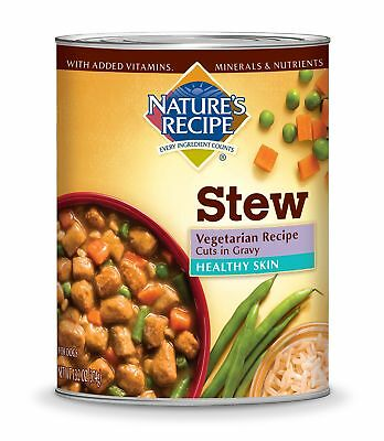 Nature's Recipe Healthy Skin Wet Dog Food Cans, Vegetarian Recipe, Cuts In