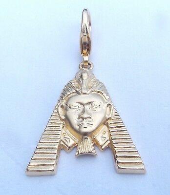 VINTAGE HATTIE CARNEGIE EGYPTIAN REVIVAL PHAROH PENDANT WITH LOBSTER CLASP - Pharoh Costume